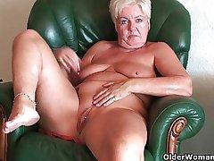 Busty and curvy grandma Sandie accumulation
