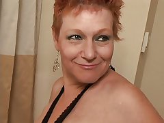 Thick Synopsize Redhead Granny Pounded