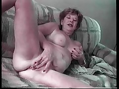 Granny Lydia Spitz Masturbates Plus Sucks For Cum