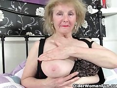 Grandma never told you about her masturbation rail against