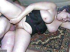 BBW chubby Nurse b like masturbate with superannuated Granny