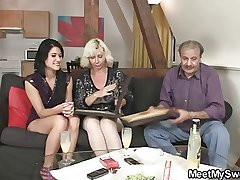 His olds allure her into threesome