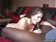 Busty Mature Cock Sucking
