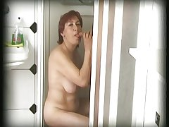 hairy granny finds a pauper prevalent her shower