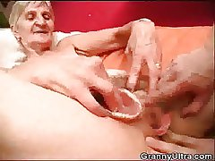 Granny Fucked As A Stud Screw around with Her Dentures