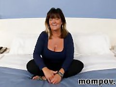 Beamy tits mature housewife making first dusting