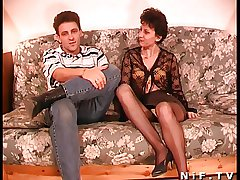 Queasy French adult gets anal fucked