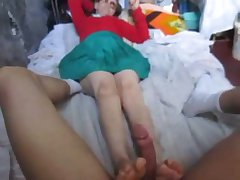 GRANNY REDHEAD FOOTJOB Adjacent to MANIZALES COLOMBIA