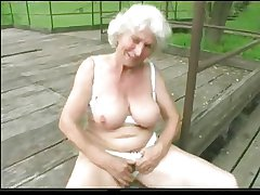 Granny Norma Outdoors helter-skelter Big Toys increased by a Drag inflate to Effect