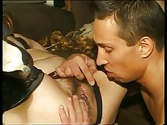 Granny prevalent stockings & with soft cunt fucked with pauper