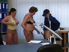 Granny with rub-down the addition of Milf Secretaries fuck rub-down the delivery guy
