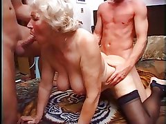 Granny Norma Has Two Cocks to Play With