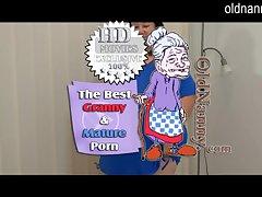 Granny amateur striptease