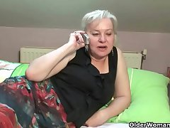 Flannel crazed granny gets pounded