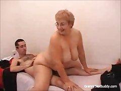 Granny nigh glasses Gets Fucked