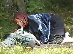 Granny Handbag Fucks anent the Woods