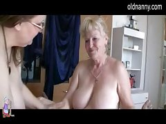 Two Grannies and man have sexual intercourse