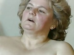 chubby flaxen-haired granny with muted pussy