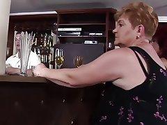 sex-crazed grannies fuck at the bar