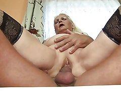 Chunky blonde granny (German)