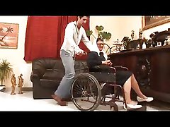 Granny in a Wheelchair Fucked Consenting