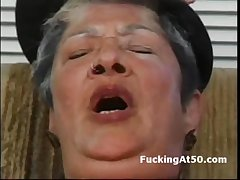 Horny granny masturbate curry favour with cum coupled with get hardcore fucked by badass