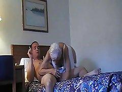 Granny sucks and fucks