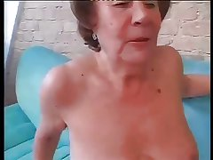 Floozy Granny Martha Fucked In Both Holes