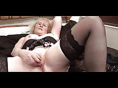 Glorious Granny in Glasses with the addition of Stockings Teases with the addition of Fingers
