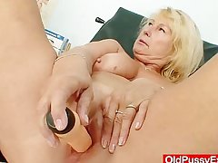 Awesome well-endowed gramma boobies coupled with north-easter gyno examination