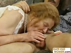 Freak of nature age-old ass granny