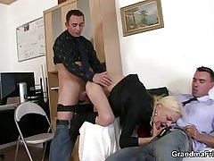 She sucks and fucks four cocks convenient job interview