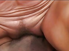 Full-grown rides a cock and gets a mouthful for cum