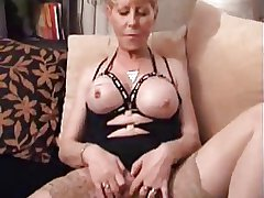 Tarty Granny in Stockings Doubles Forth