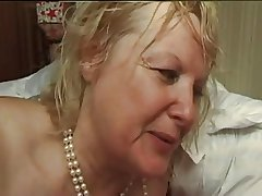 FRENCH Full-grown n5 blonde bbw anal nourisher milf and 2 bi men