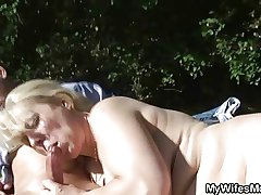 Become man catches them shafting outdoor