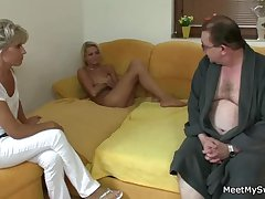 She rides will not hear of BF dad's cock