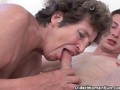 Cock hungry grandma loves anal intercourse