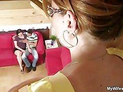 She catches her BF adjacent to her nurturer