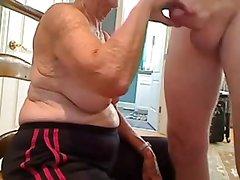 Grandma sucks cock almost grandpa