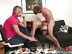 Redhead mammy is fucked away from her son in resolution