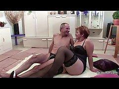 German old Grandpa and Grandma yon Waggish Time Porn Performers