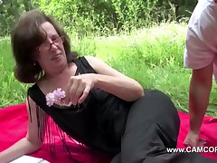 Mom get touched alfresco away from young men added to thing embrace hard