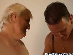This granny is fat plus horny
