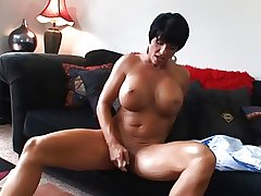 Hot Mature Prex Brunette Cougar Bangs and Wears Rolling in money