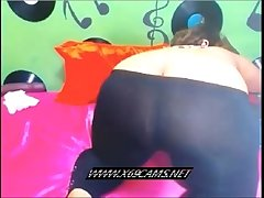 Blindfold BBW plays with herself on the top of camera-x69cams.net