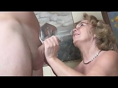 Pierced german granny acquiring fucked by a young guy