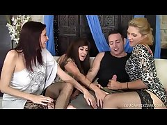 3 Cougars Wild Line up Carnal knowledge With Bloke - DirtyMilfTube.com