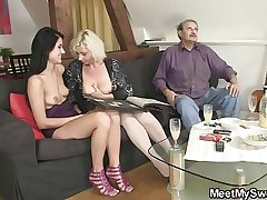 Challenge finds his girl fucking with his olds