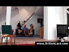 British lady Lara Latex fucked in the matter of triad in the matter of elder statesman guy